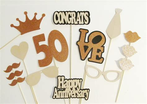 props ideas photo booth props 50th anniversary party decorations 15pc set