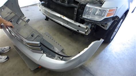 ford flex front bumper cover  reinforcement removal