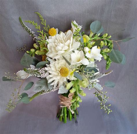 rustic  natural wedding bouquets dahlia floral design