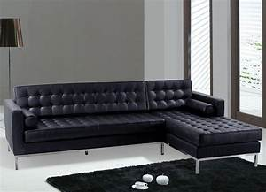 sofas modern black leather sectional sofa black color With modern leather sofa