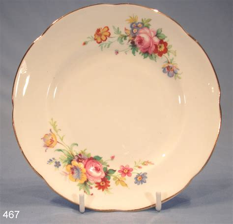 Teller Vintage by Antique Dishes Royal Stuart Floral Vintage Bone China