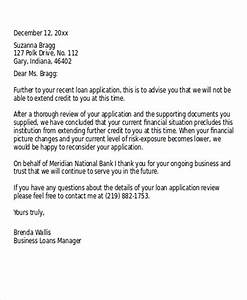 Loan rejection letter templates 7 free word pdf format for Loan denial letter template
