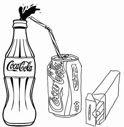 Coloring Cola Coca Drink Coke Bottle Soft