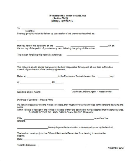 eviction notice 37 eviction notice templates doc pdf free premium templates