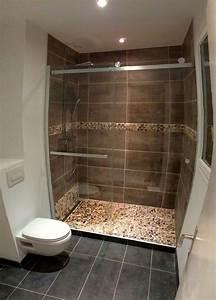 Salle De Bain à L Italienne : salle de bain italienne petite surface simple pose douche ~ Dailycaller-alerts.com Idées de Décoration
