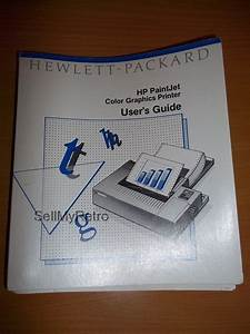 Hp Paintjet User U0026 39 S Guide  This Is The User U0026 39 S Guide Manual
