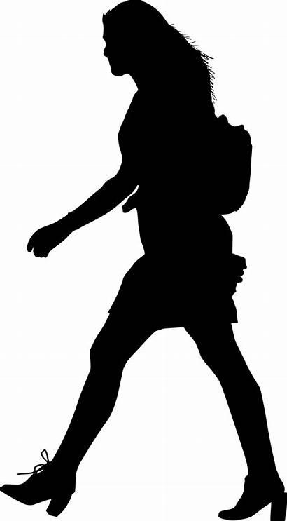 Walking Silhouette Woman Transparent Onlygfx Px 1104