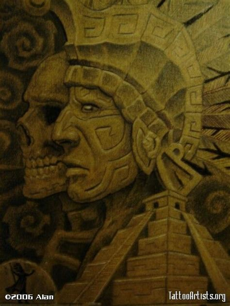 images  aztec tattoo  pinterest