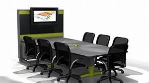 Seat Muret : conference table with integrated tv in a wall table de conf rence avec tv int gr e dans le muret ~ Gottalentnigeria.com Avis de Voitures