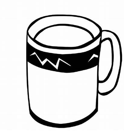 Coloring Coffee Pages Drinks Clipart Colouring Tea
