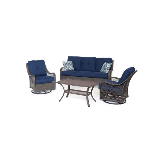 hton bay lemon grove 4 wicker patio conversation