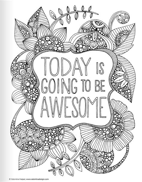 inspirational quotes coloring book  adults