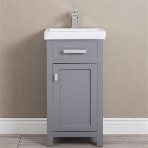 "Home > 18 inch white modern corner bathroom vanity with optional medicine cabinet. Zipcode Design™ Knighten 18"" Single Bathroom Vanity Set ..."