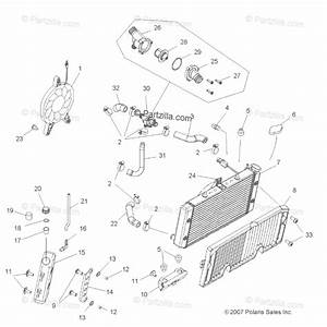 Polaris Atv 2008 Oem Parts Diagram For Engine  Cooling