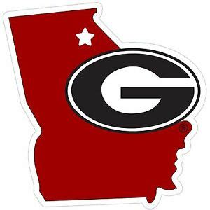 "Georgia Bulldogs 11"" Home State Magnet (georgia Shape"