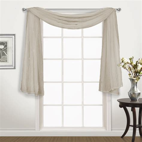 crushed voile curtain scarf united curtain company venice 144 quot crushed voile scarf valance