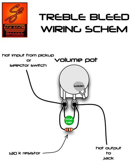 orange drop treble bleed kit for guitar telecaster