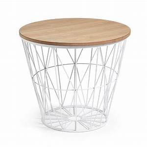 Table D Appoint Salon : table d 39 appoint en m tal et bois naturel isa by drawer ~ Melissatoandfro.com Idées de Décoration