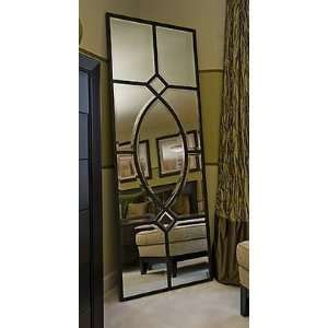 vintage floor standing mirror length oak chevil