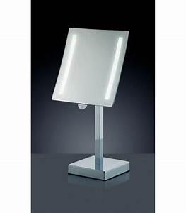 miroir grossissant lumineux sur pied x3 wadigacom With miroir sur pied salle de bain