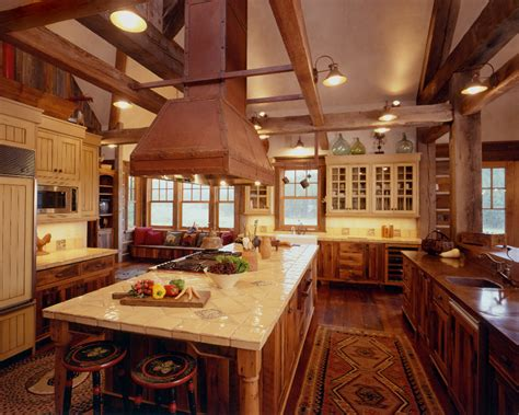 Old Kitchen Design With Bar Rustic Reclaimed Wood Kitchen