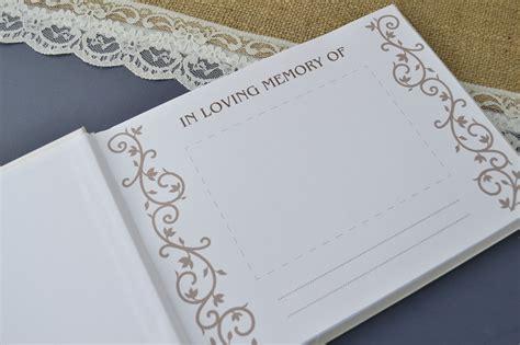ivory  loving memory book condolence book creative bridal