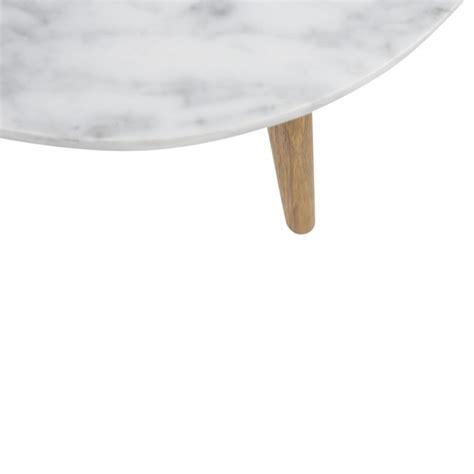 table basse marbre ronde table basse ronde scandinave en marbre blanc et bois d