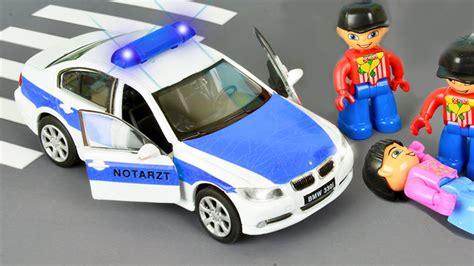 Autos Für Kinder  Das Feuerwehrauto Und Das Polizeiautos