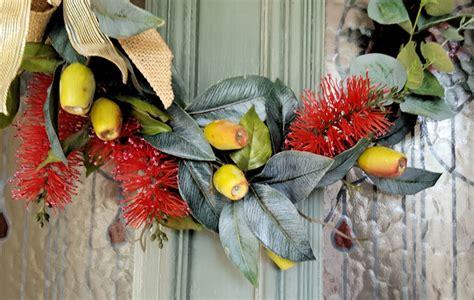 artificial australian native christmas wreath artificial australian flower wreath wedding flowers madeit au