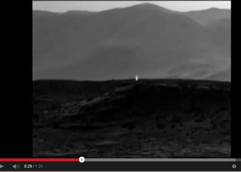 Mars Light by Mars Picture Shows Artificial Light Intelligent