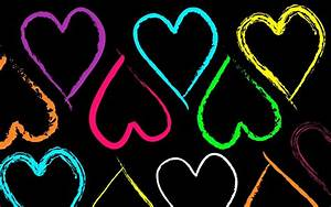 neon hearts and stars Quotes