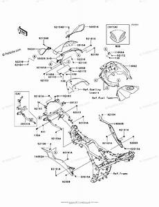 Kawasaki Motorcycle 2013 Oem Parts Diagram For Cowling