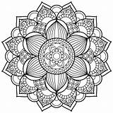 Coloring Pages Mandala Therapy Getcolorings Printable sketch template