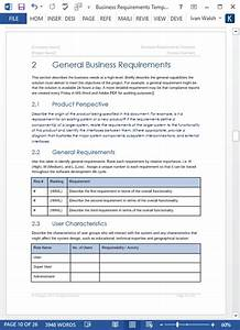 Business requirements specification template 24 page ms for Business requirement specification document template