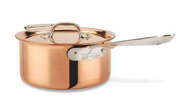 clad  copper clad irregular  qt sauce pan  lid  loop special saucepan sauce