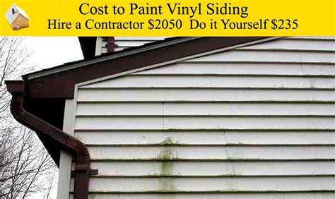 cost  paint vinyl siding youtube