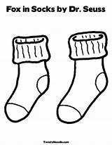 Bulletin Socks Fox Activities Coloring sketch template