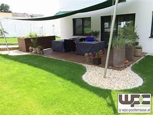 wpc bilder referenzen terrassendielen wpc terrasse bilder With französischer balkon mit podest im garten