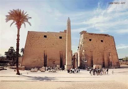 Ancient Ruins Reconstructing Luxor