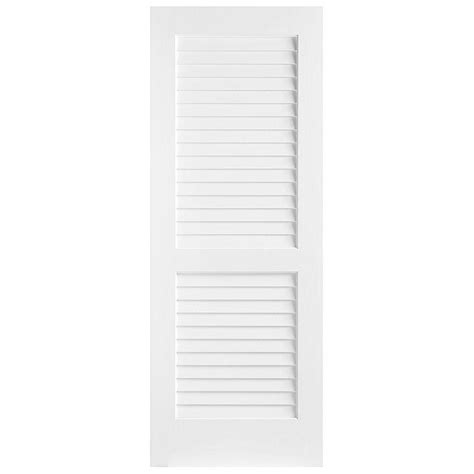 louvered closet doors 28 x 80 masonite 24 in x 80 in plantation smooth louver