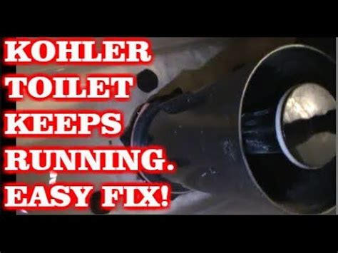 kohler toilet  running water easy fix youtube