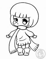 Chibi Chibis Yampuff Coloring Candy Halloween Nerd Corn Wolf sketch template