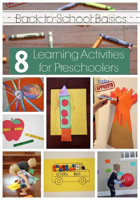 back to school basics 8 learning activities for 473 | 8307f0d71192dee09b2c37a4b196e3fa preschool learning activities activities for preschoolers