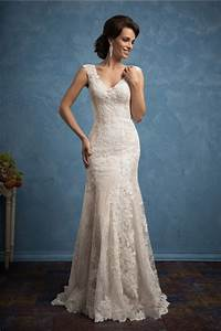 fantastic sheath v neck cap sleeve champagne satin lace With champagne wedding dresses with sleeves