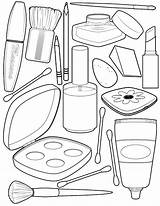 Makeup Coloring Popular sketch template