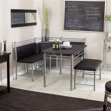 Breakfast Nook ? Black Family Diner 3 Piece Corner Dining