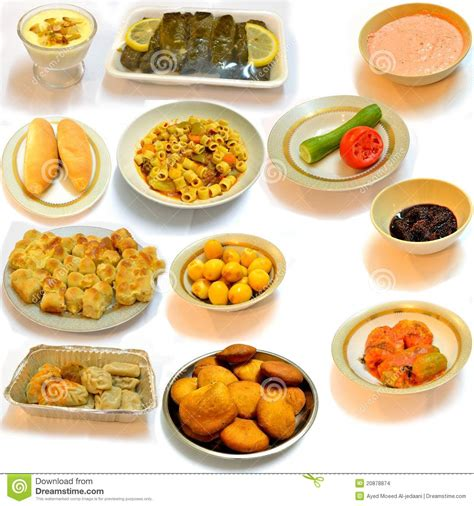 cuisine arabe diner la nourriture de l 39 arabe de cuisine images stock