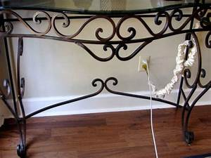 iron sofa tables and glass With best brand of paint for kitchen cabinets with wrought iron metal wall art