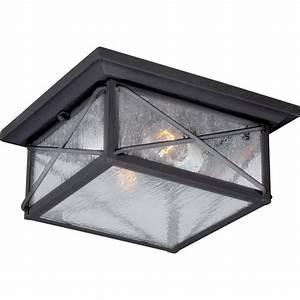 Home Depot Motion Sensor Exterior Light Filament Design Kylee Textured Black 2 Light Outdoor Flush