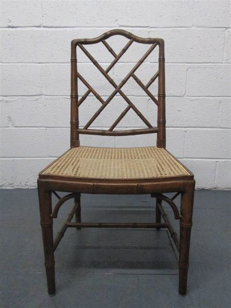 4 faux bamboo chippendale style chairs for sale at